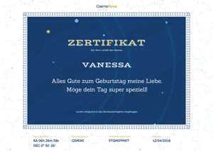 star certificates